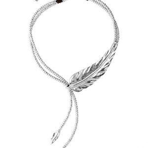"""Uno de 50 """"Feather"""" necklace"""